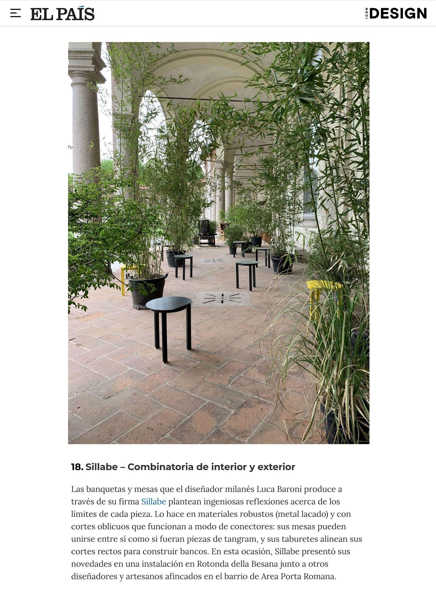 Sillabe Luca Baroni Press El Pais