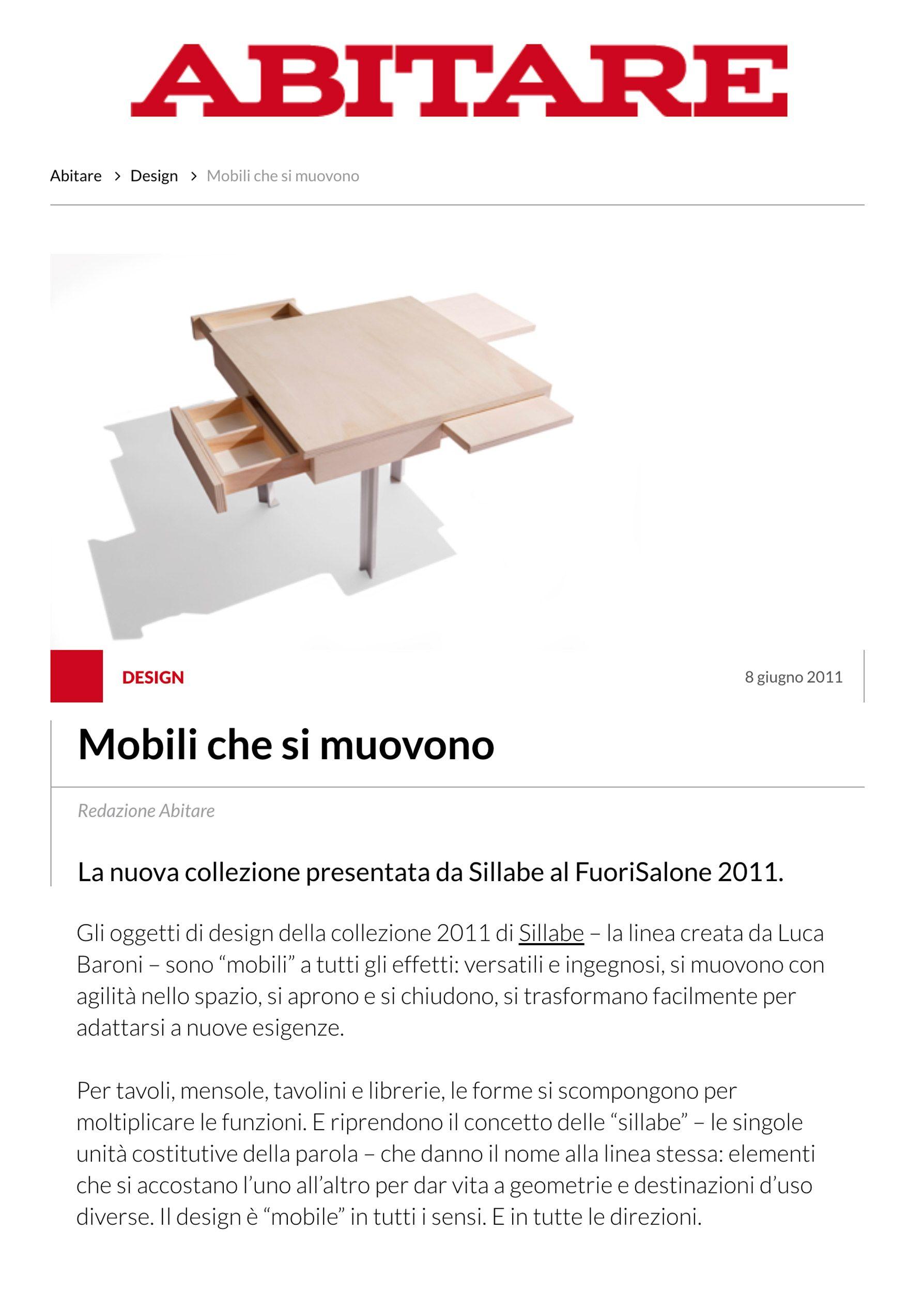 Sillabe Luca Baroni Press Abitare